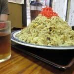 弘前にある有名な大盛りの食堂「鶴亀」でジャンボチャーハンに挑戦