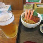 【味鮮まえかわ】函館朝市で海鮮丼食べながら朝ビール